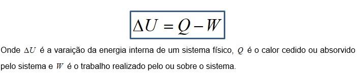 fórmula termodinâmica