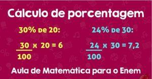 O Cálculo de Porcentagem