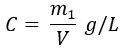 Fórmula de concentração