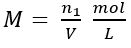Fórmula molaridade - concentração