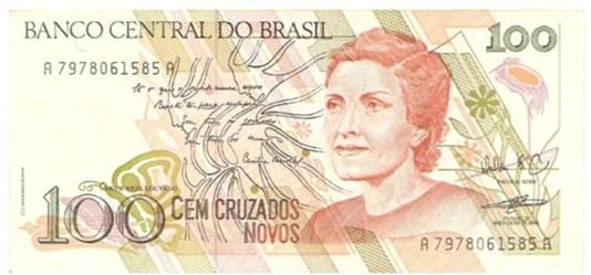 cédula com retrato de Cecília Meireles