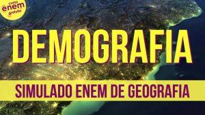 simulado de demografia - Geografia Populacional