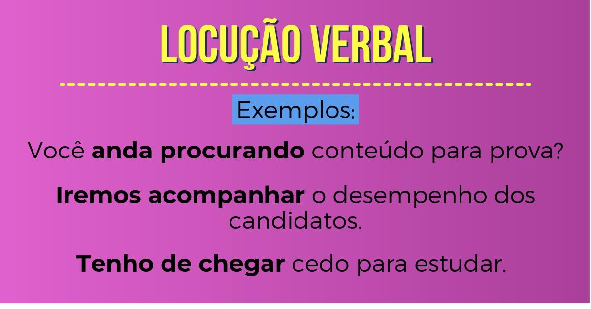 Locução verbal - Resumo de Português para o Enem