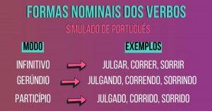 Veja as Formas Nominais do Verbo