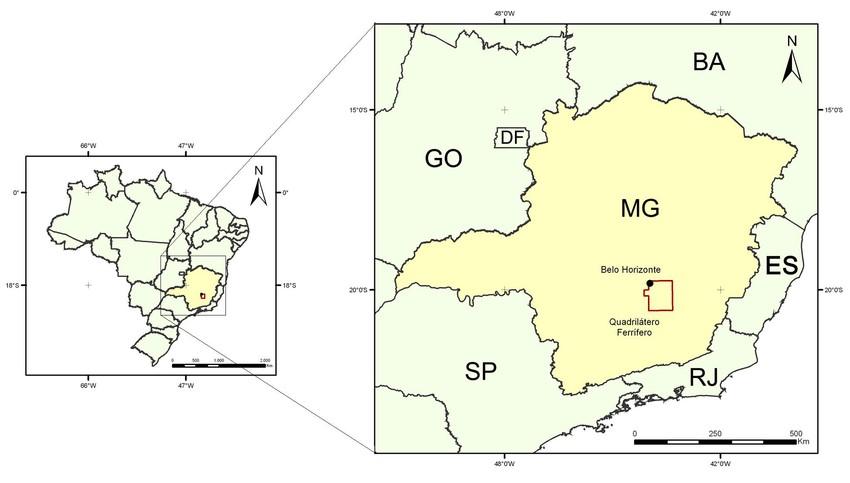quadrilatero ferrifero brasil
