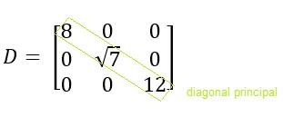 Diagonal principal