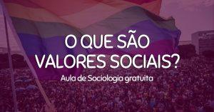 aula de valores sociais