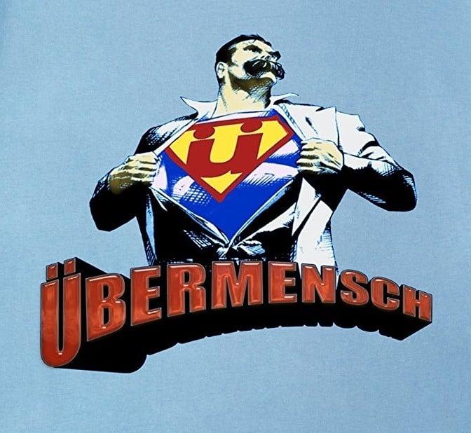 super homem de nietzsche ilustração