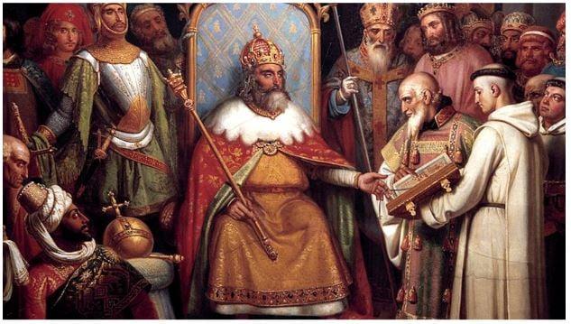 coroação de carlos magno - igreja católica na idade média
