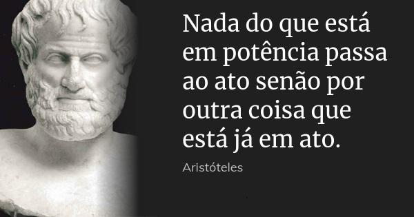 ato e potencia frase aristoteles