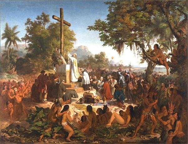 A primeira missa no Brasil - descobrimento