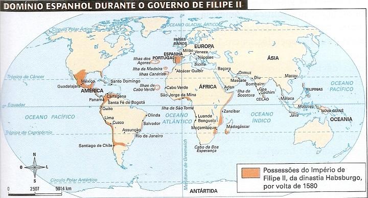 Domínios espanhóis - União Ibérica.