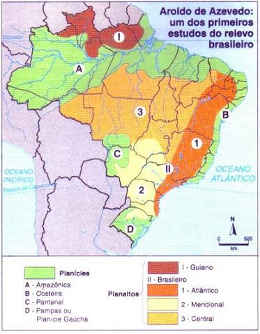 divisão do relevo brasileiro I
