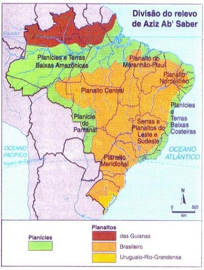 divisão do relevo brasileiro II