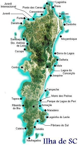 como escrever lendas e mitos - mapa de florianópolis