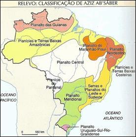 relevo do brasil classificação de azis absaber
