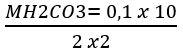 Cálculo de exemplo de titulação