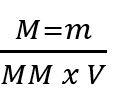 Fórmula da molaridade