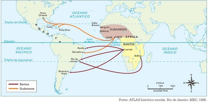 bantos e sudaneses - tráfico negreiro