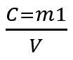 Fórmula da concentração comum