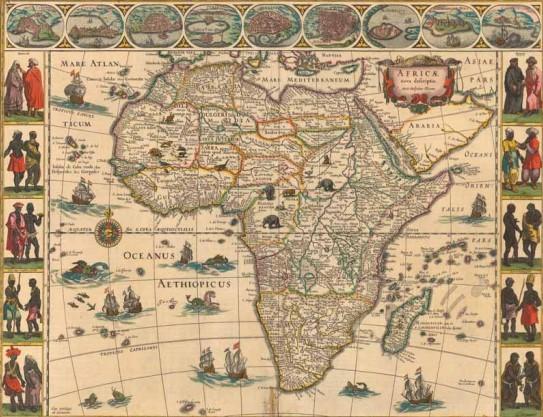 Mapa da áfrica - portugueses na África