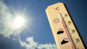 temperatura no termometro