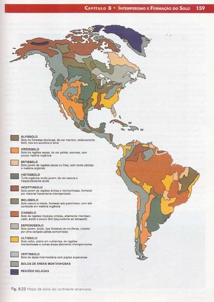 tipos de solo do brasil mapa do continente americano