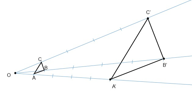 Exercício homotetia passo 4