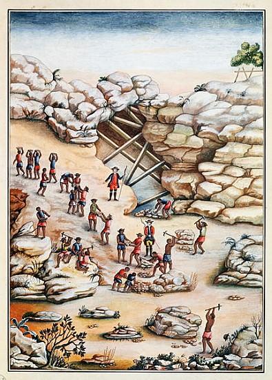 Extração de diamantes - sociedade mineradora