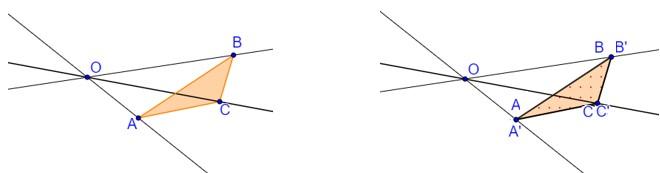Homotetia razão k igual a 1
