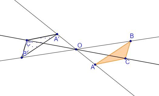 Homotetia razão k igual a -1