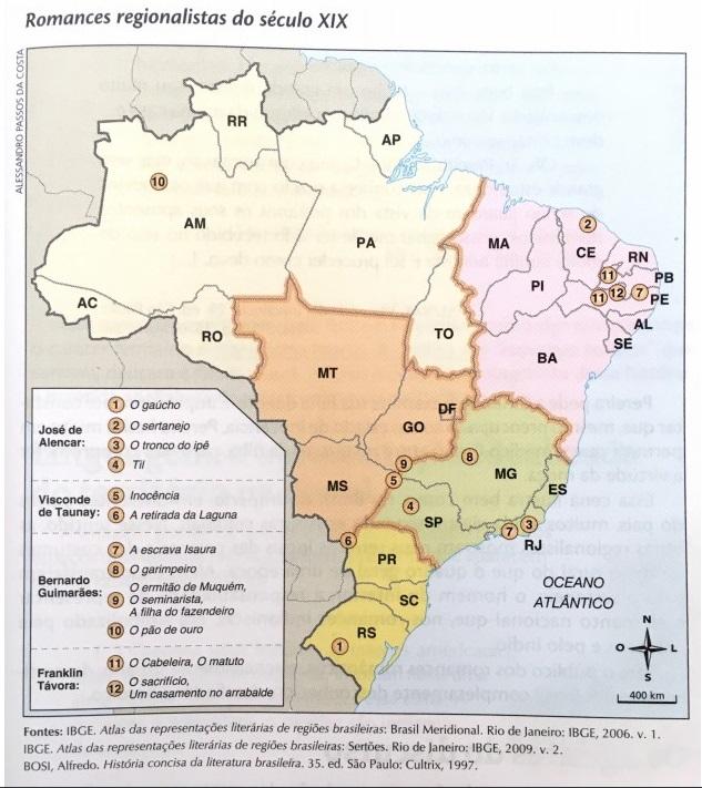 Mapa do romance regionalista