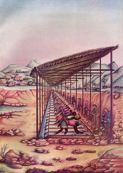 Mineração de diamantes - Trabalho escravo nas minas