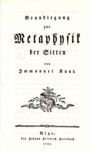 metafisica dos costumes de immanuel kant