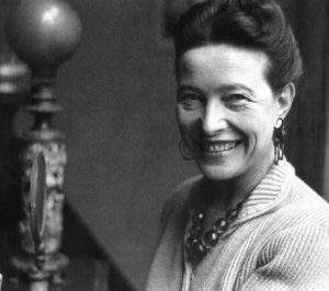 retrato de simone de beauvoir