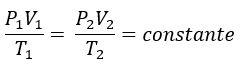 Lei geral dos gases perfeitos
