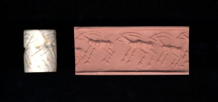 arte na mesopotamia selo cilindrico