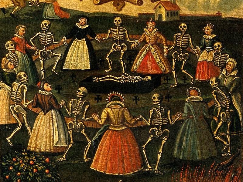 pintura dança da morte