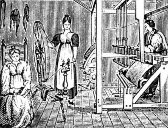 produção têxtil nas 13 colonias