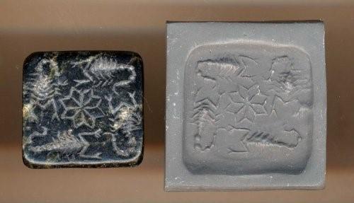 selo de estampa arte na mesopotamia