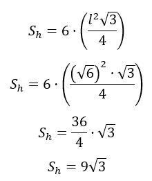 Cálculo de exercício com hexágono