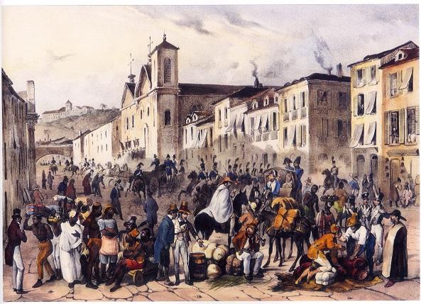 Vinda da família real para o Brasil- Pintura do RJ na década de 1820