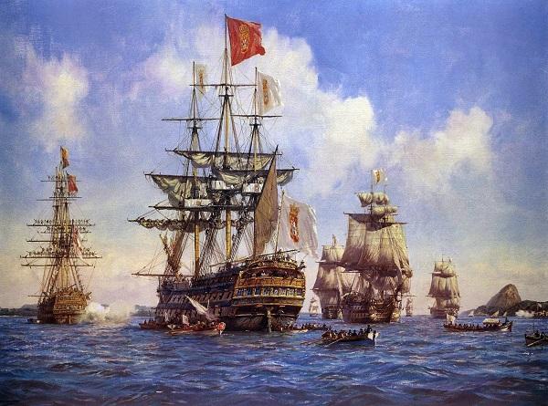Vinda da família real portuguesa - pintura