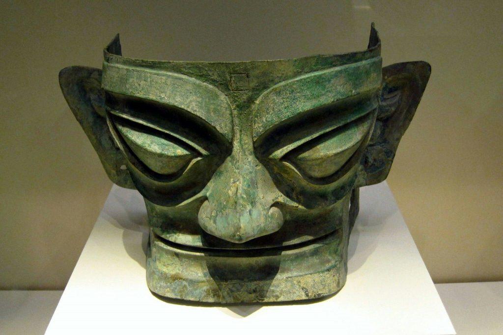 Arte chinesa: máscara mortuária da dinastia Shang