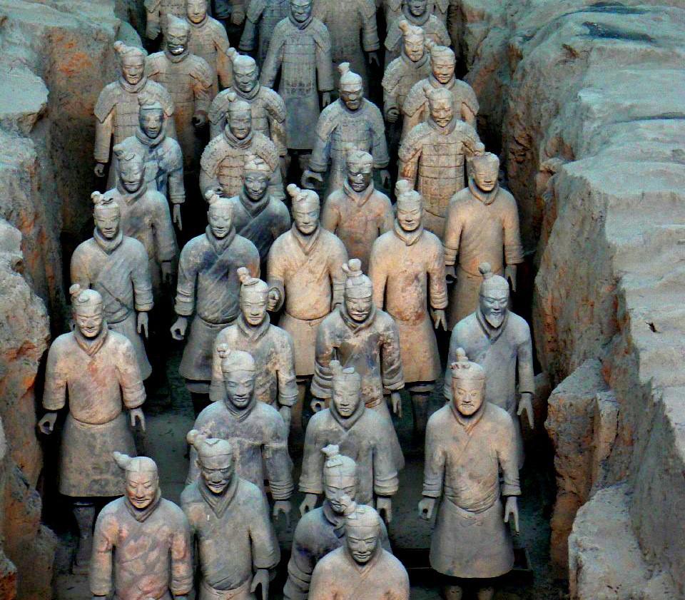 Arte chinesa exército de terracota