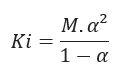 Fórmula da Lei de Ostwald
