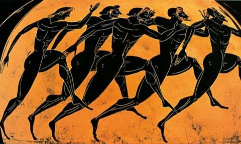 Pintura de corrida na Grécia - Espostes coletivos