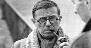 retrato de Jean Paul Sartre