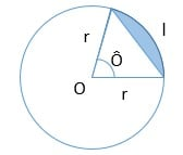 área do segmento circular