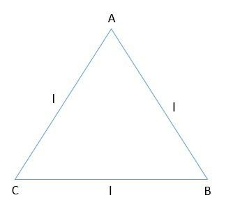 área do triângulo equilátero